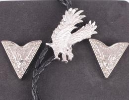 Bolo Tie / Collar Tips Set American eagle