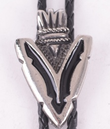 Arrowhead Black Enamel Bolo Tie