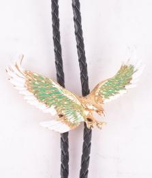 Eagle Gold/Green Bolo Tie
