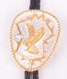 German Silver & Gold Eagle Bolo
