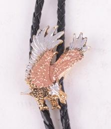 Tricolor Eagle Bolo Tie