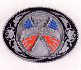 American Flags Belt Buckle