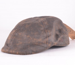 Dublin Leather Cap Brown