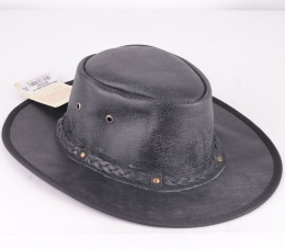 Springbrook Black Leather Hat