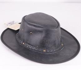 Springbrook Black Leather Hat