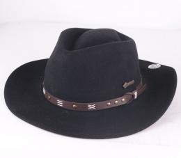 Emerald Black Felt Hat