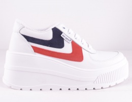 White & Red/Blue Platform