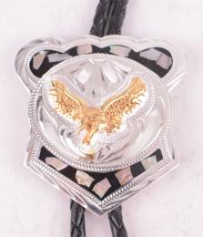 German Silver Eagle Bolo Tie