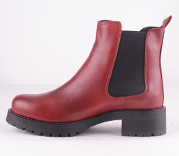 Chelsea Boot Red Warm Lining