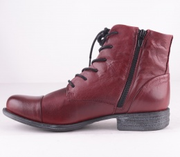Lace Ziop Boot Bordeaux