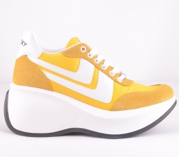 Iconic Yellow Suede Platform
