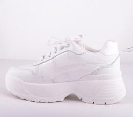 White/White Toro Platform Sneakers