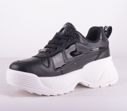 Toro Black/White Platform Sneakers