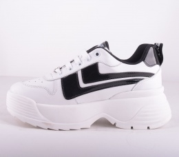 White/Black Toro Platform Sneakers