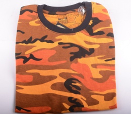 US T-shirt Orange Camo
