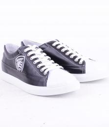 Sneaker Pelle Black/White