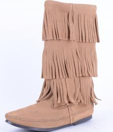 301-3Layer Finger Taupe Suede