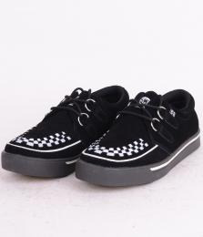 Creeper Sneaker Black/White Suede