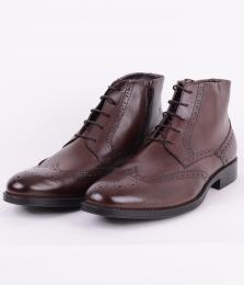 Brown Brogue High Zip 5784