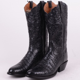 Crocodile Boots Black