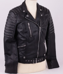 Kristine 1 Black Leather with Studs