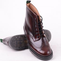 6 Eye Brogue Boot Burgandy
