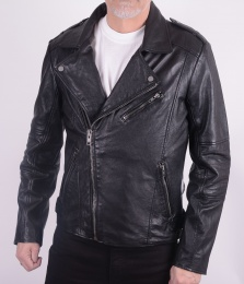 Cliff Black Leather Biker