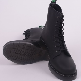 8 Eye Derby Boot Black Greasy 551