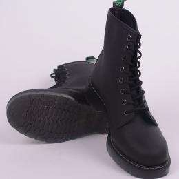 8 Eye Derby Boot Black Greasy