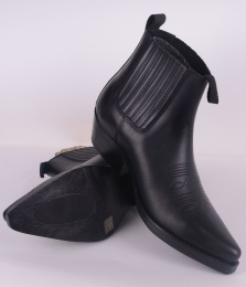 Pointed Boots 5661-03 Black