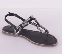 286004 Sandal Black/White