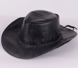 Leather Hatt Black