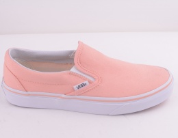 Classic Slip On Peach/True White