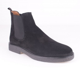 City Chelsea Black Suede 72