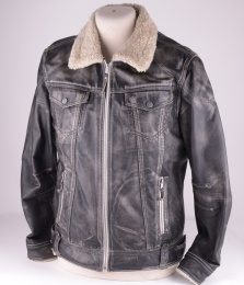Leather Jacket Vintage Look