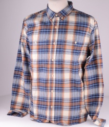 Checked Shirt Blue/Rust