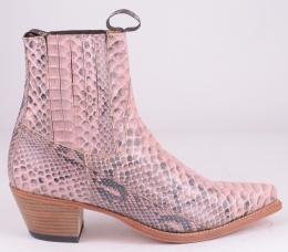4375 Pink Python Boot