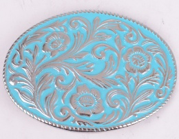 Turquoise Pattern Belt Buckle