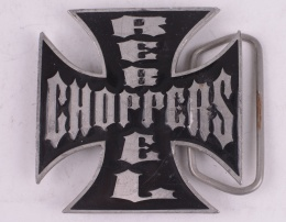 Choppers Rebell Belt Buckle Red & Black