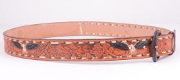 Burned Tan Eagle Belt (removable buckle)
