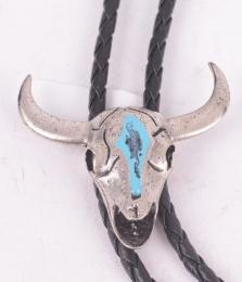 Turquoise Skull Bolo Tie