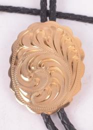 Gold Shiny Bolo Tie