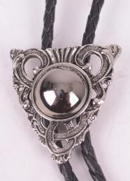 Silver Stone Bolo Tie