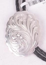 Shiny Silver Bolo Tie