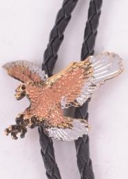 Eagle Silver/Gold Bolo Tie