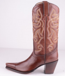1703 High Heel Brown Boot