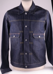 E-Classic Denim Jacket Rainbow Selvedge Unwashed