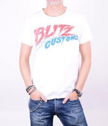 Blitz Customs White T-shirt
