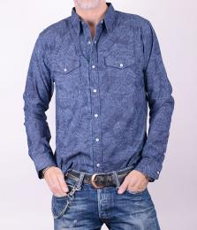 Blue Palm Laser Boston Shirt
