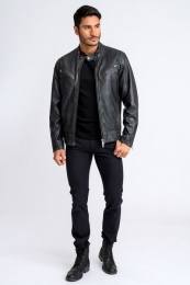 Gordon Biker Leather Jacket